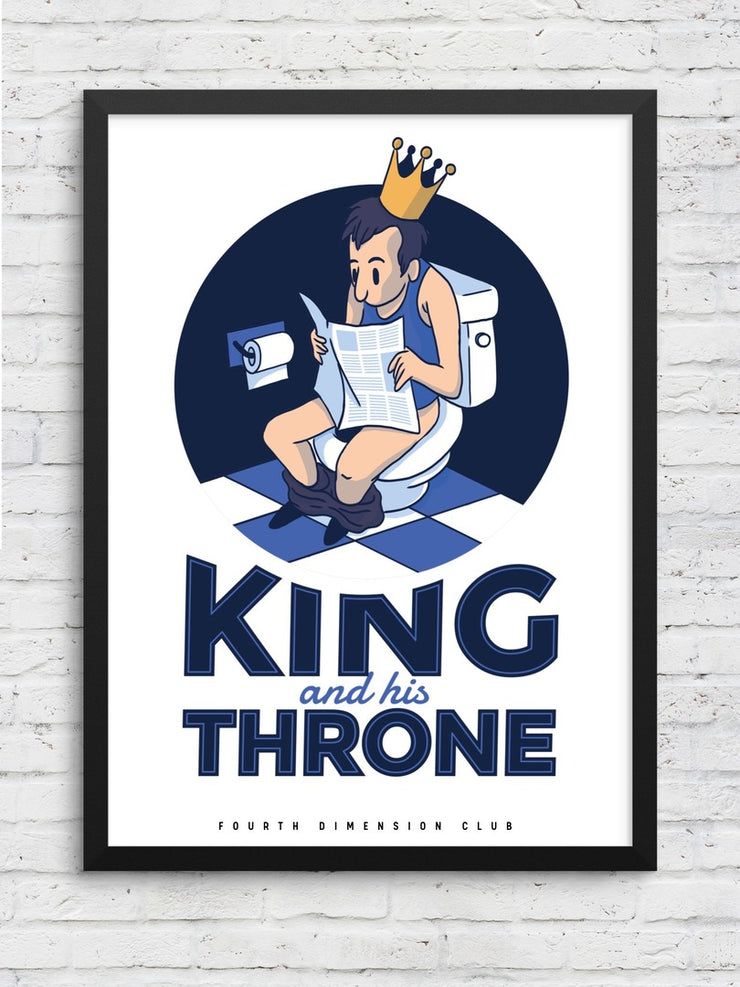 King & His Throne Framed Poster