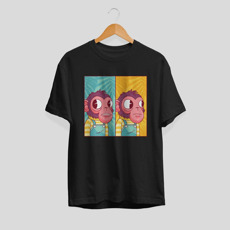 Awkward Monkey Unisex Half Sleeve T-Shirt #Plus-sizes