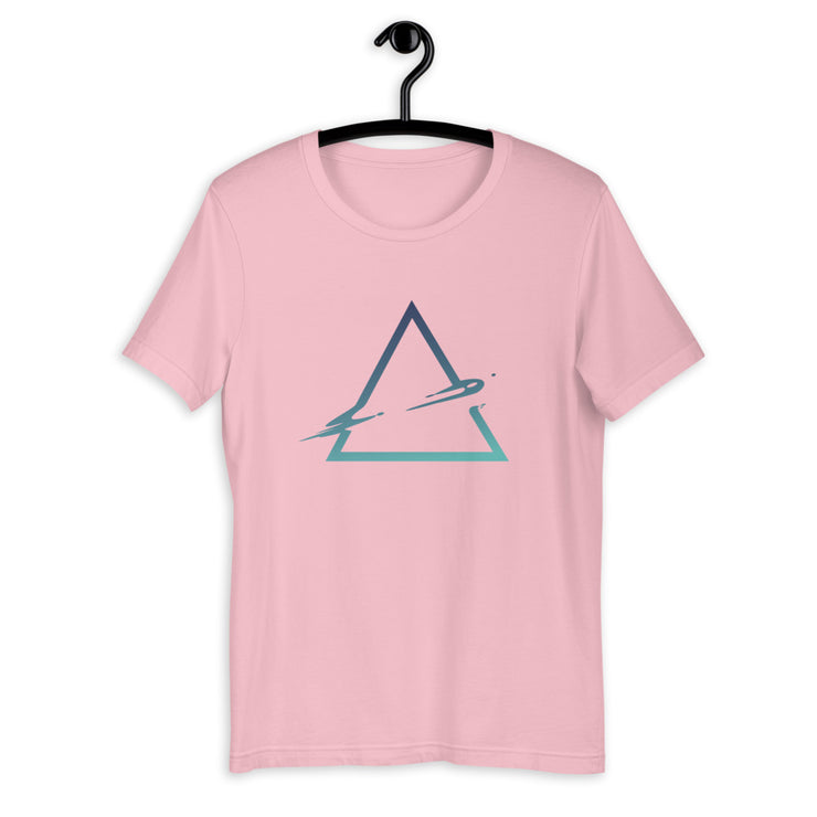 Triangle Abstract Half-Sleeve T-Shirt