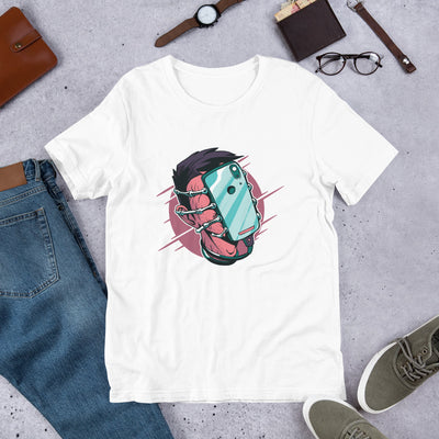 Face Hugger Phone Half-Sleeve T-Shirt