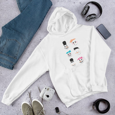 Cute Snowmen Unisex Hooded Sweatshirt