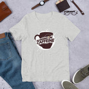 Running On Caffeine Unisex Half Sleeve T-Shirt #Plus-sizes