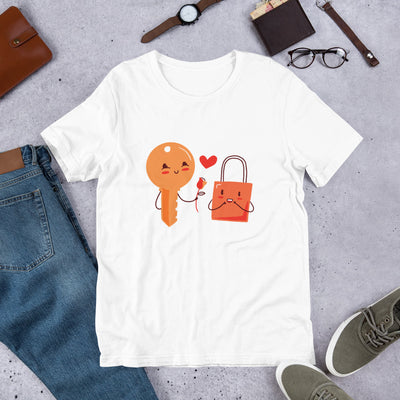 Key & Lock Love Half-Sleeve T-Shirt