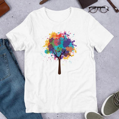 Abstract Tree Unisex Half Sleeve T-Shirt #Plus-sizes