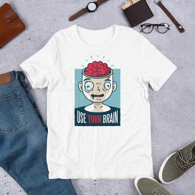 Use Your Brain Half Sleeve T-Shirt