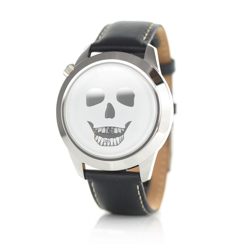 The Last Laugh XL watch, side facing view