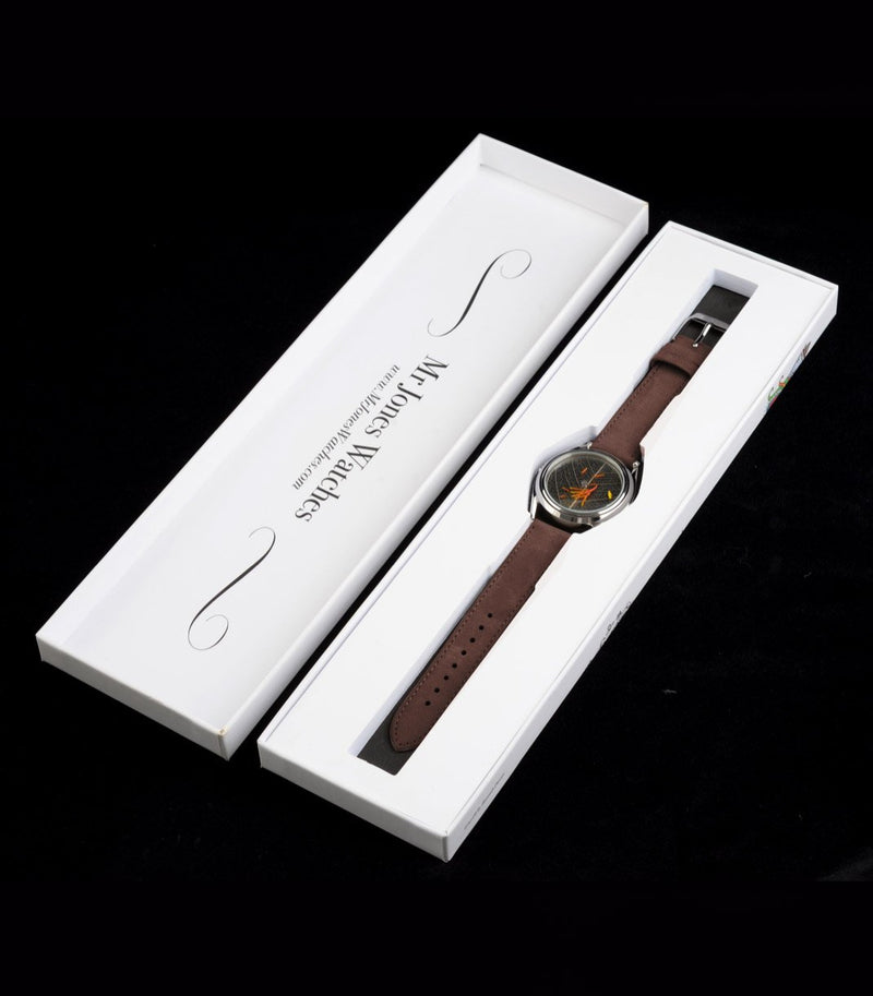 Autumn's riches in Mr Jones Watches packaging
