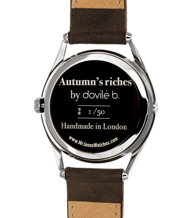 Autumn's riches limited edition watch case back