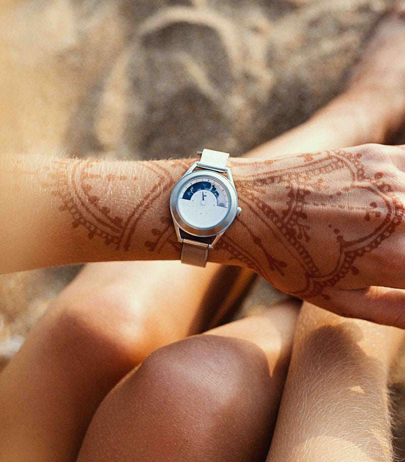 Sun and Moon ladies on models wrist
