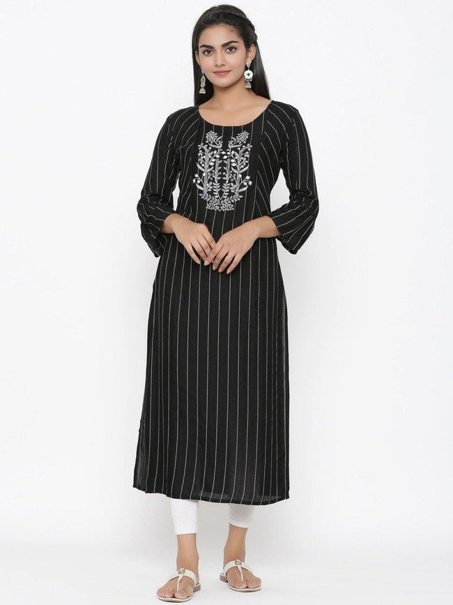 YF -  Embroidered straight Kurta Only - ZERESOUQ