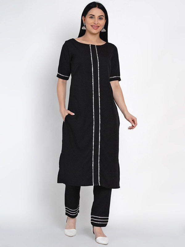 Straight Kurta And Pant Set - ZERESOUQ