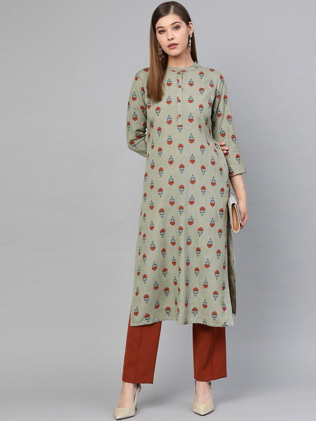 YF -  Printed straight Kurta Only - ZERESOUQ