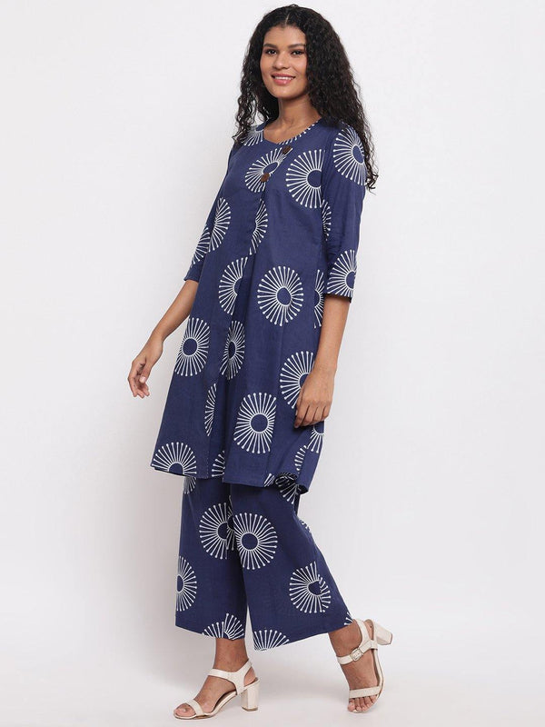 Printed Aline Kurta with Straight Pants