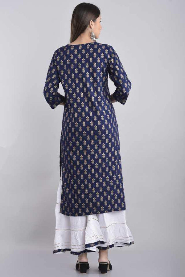 Women Kurta and Sharara Set Rayon