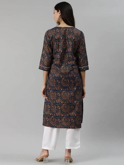 Black & Golden Solid Kurta with Palazzos & Dupatta - ZERESOUQ