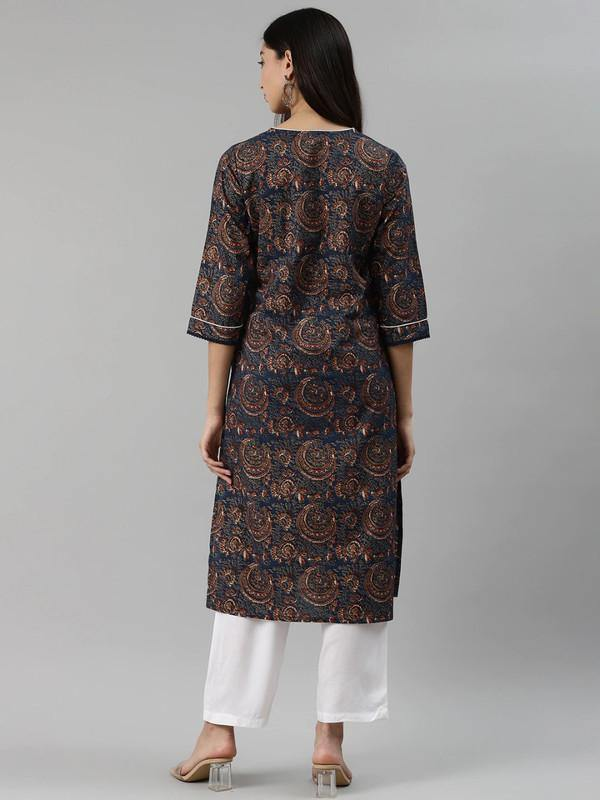 Black & Golden Solid Kurta with Palazzos & Dupatta