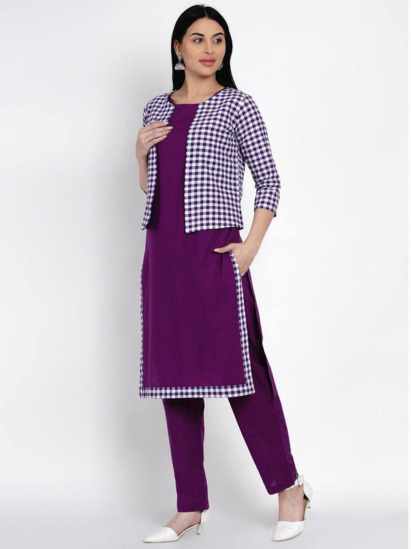 Kurta And Pant Set With Jacket - ZERESOUQ