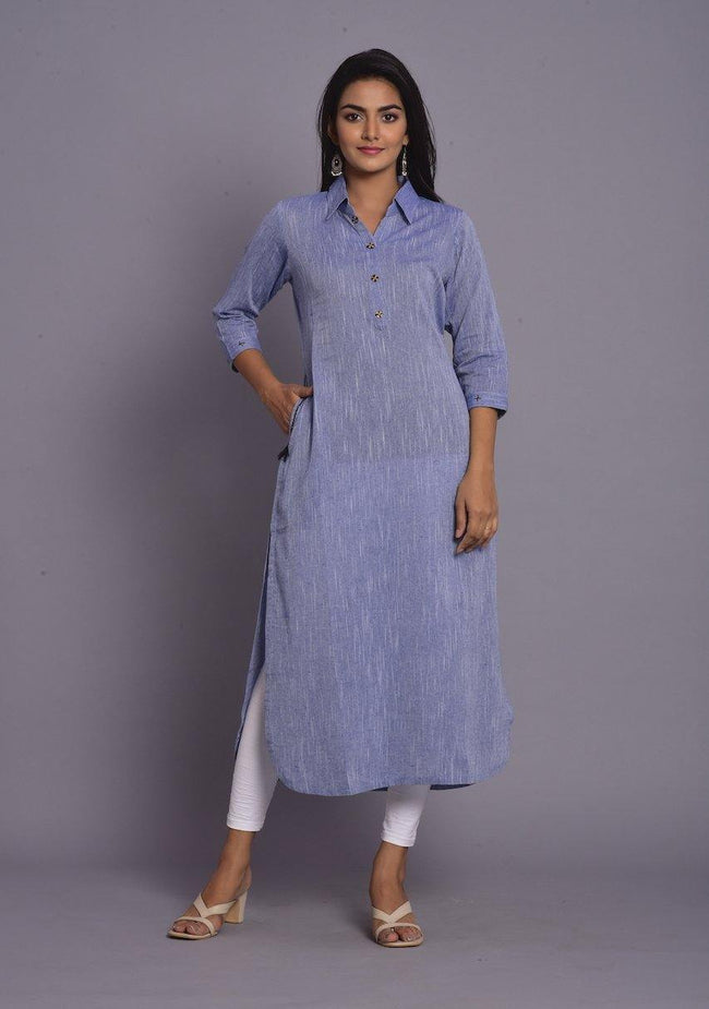 MY - SkyBlue Tunic Kurta Only - ZERESOUQ