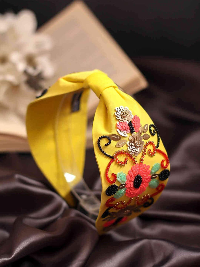 Designer-Luxe-Headband-In-Yellow