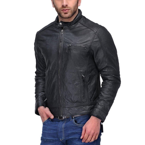 Leather Biker Jacket Black