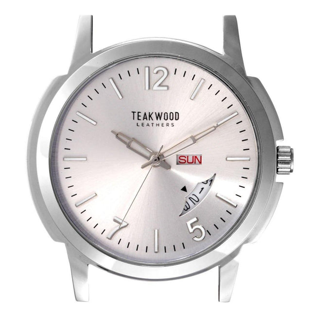 Men's Leather Analog Wrist Watch - ZERESOUQ