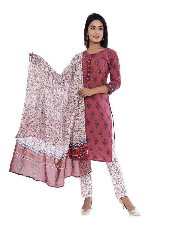 Kurta and Pant Set Cotton Blend - ZERESOUQ