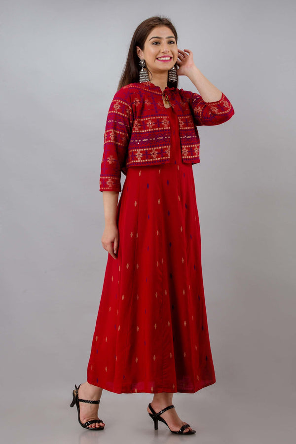 Anarkali  Kurta and Detachable jacket - ZERESOUQ