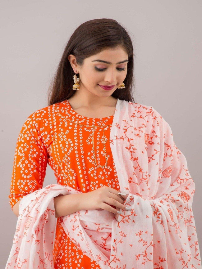 Kurta and skirt set with dupatta - ZERESOUQ