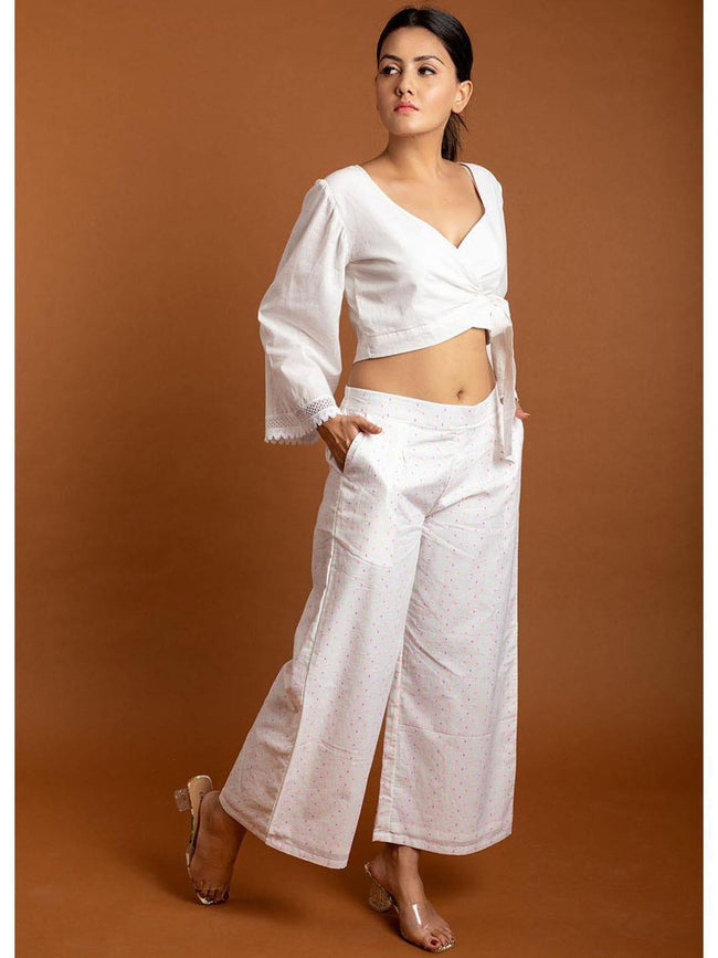 JOVI - Easy White Pants - ZERESOUQ