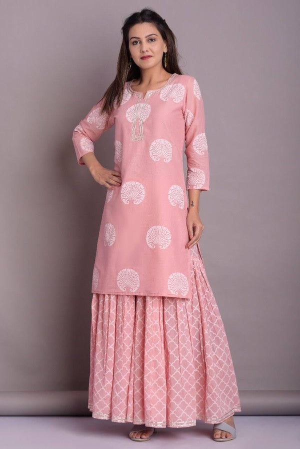 ZERE - Flamingo Pink Sharara Set