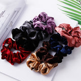 1PC Velvet Solid Elastic Ponytail Holder