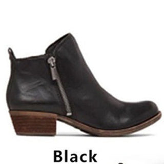 POLALI Womens Low Heel Ankle Booties