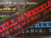 "Load image into Gallery viewer, Hell On Wheels Performance Ltd Banner 48"" X 14"""