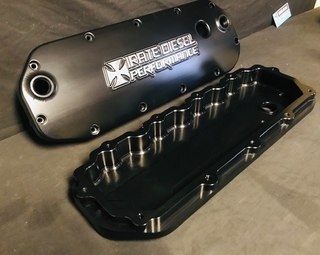 Beans 04.5-07 6.0L Power Stroke Billet Valve Covers With Oil Cap