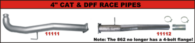 2011-2015, 6.6L, 2500/3500, LML, DPF Race Pipe EC-CC/SB-LB w/ Adapter & 4-Bolt Flange