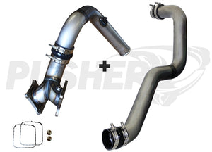 "Pusher SuperMax Intake System & Pusher Max 3"" Driver-side Charge Tube for 2006-2010 Duramax LBZ/LMM Trucks"