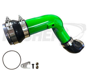 "Pusher HD 3"" Cold Side Charge Tube for 2017+ Ford 6.7L Powerstroke w/ Throttle Valve Adapter"