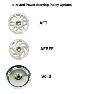 Beans 3 Pulley Kit - Idler, Power Steering, and Fan Pulley Combo NO FAN / ELECTRIC WATER PUMP
