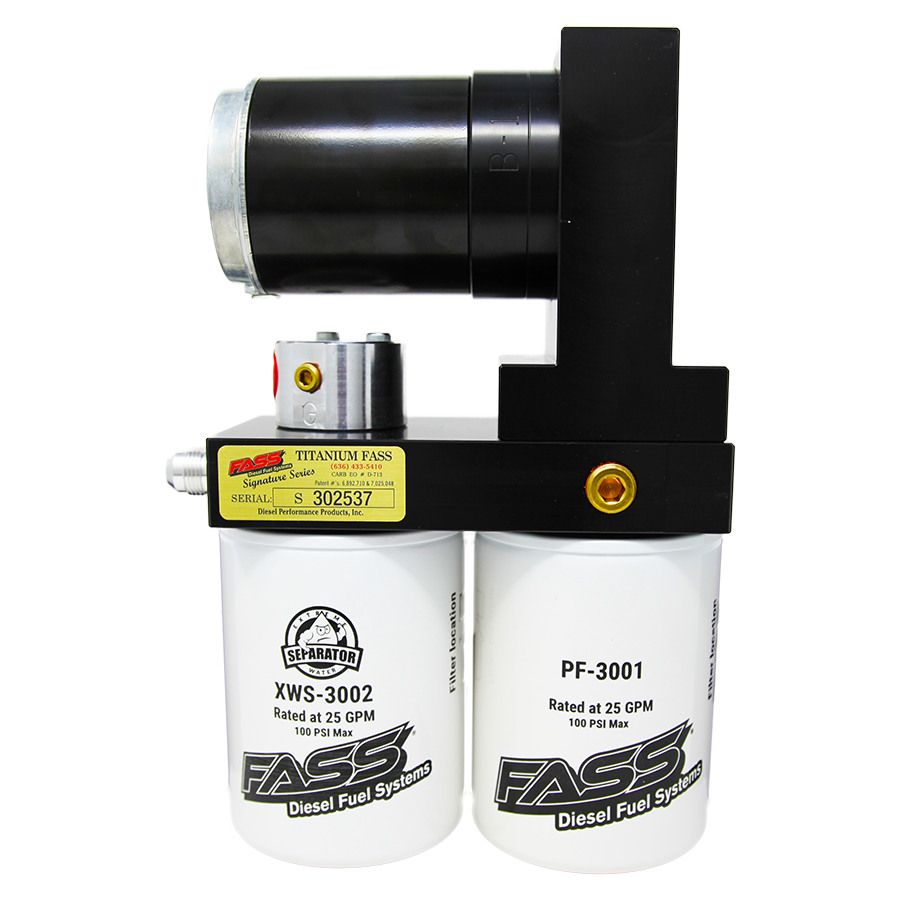TITANIUM SIGNATURE SERIES DIESEL FUEL LIFT PUMP 100GPH DODGE CUMMINS 5.9L 1998.5-2004 (TS D08 100G) (NOTE: IF THE TRUCK HAS BEEN RETROFITTED WITH AN IN-TANK PUMP, YOU NEED TO PURCHASE A TS D07 100G KIT.)