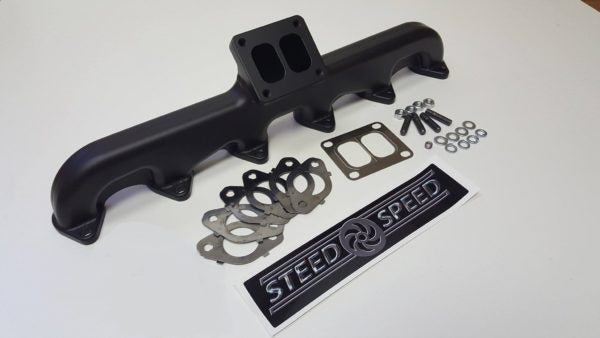 Steed Speed T4 24V Angled Turbo Flange With Waste Gate