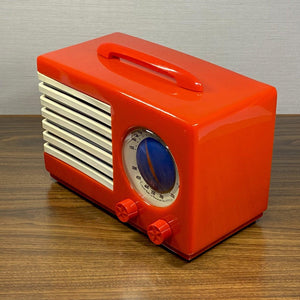 "Emerson 400 ""Patriot"" Catalin Radio- Red/ Blue Grille"