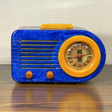 Load image into Gallery viewer, Blue FADA Bullet Catalin Radio For Sale