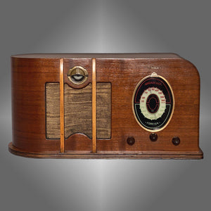 CLIMAX Tube Wood Radio