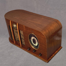 画像をギャラリービューアに読み込む, CLIMAX U65 Oval Dial Tube Wood Radio sold items Catalin Store