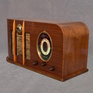 CLIMAX U65 Oval Dial Tube Wood Radio sold items Catalin Store