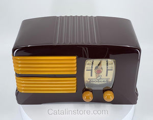 Crosley G1465 Catalin Radio Maroon Yellow sold items Catalin Store