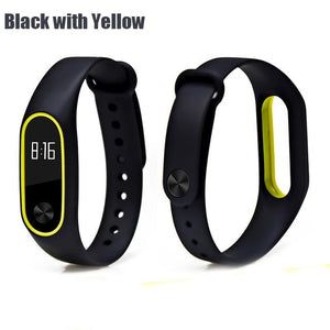 BOORUI Double color mi band 2 accessories pulseira miband 2 strap replacement silicone wriststrap for xiaomi mi2 smart bracelet - LE JAO EXPRESS