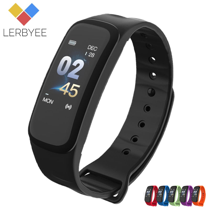 Lerbyee C1Plus Smart Bracelet Color Screen Blood Pressure Fitness Tracker Heart Rate Monitor Smart Band Sport for Android IOS - LE JAO EXPRESS