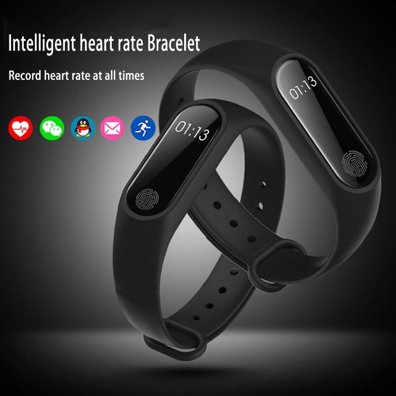 Smart Bracelet M2 Waterproof Wristband Heart Rate Monitor Fitness Tracker Sport Bluetooth Smartband for Android iOS Phone