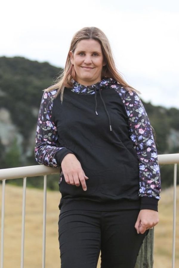 Brianna Hoodie by Emily Rose Designs. Affordable New Zealand designed women's fashion from our online women's clothing store.